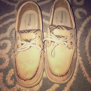 Nude Sperry Boat Shoes- Leather